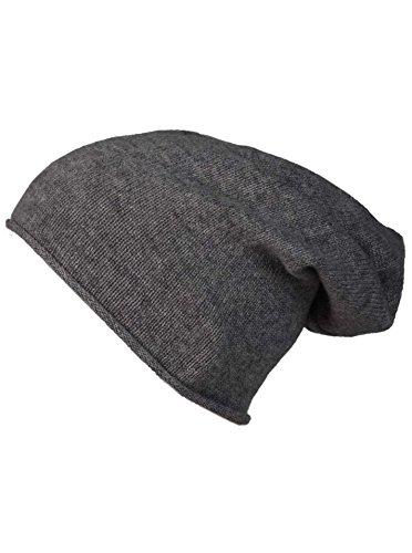 Bonnet Double cœur '100% Cashmere' - Bonnet tricoté de Haute qualité pour Femme Garçon Fille - Chapeau - Unisexe - Taille Unique - Chaud et Doux en été, Automne et Hiver