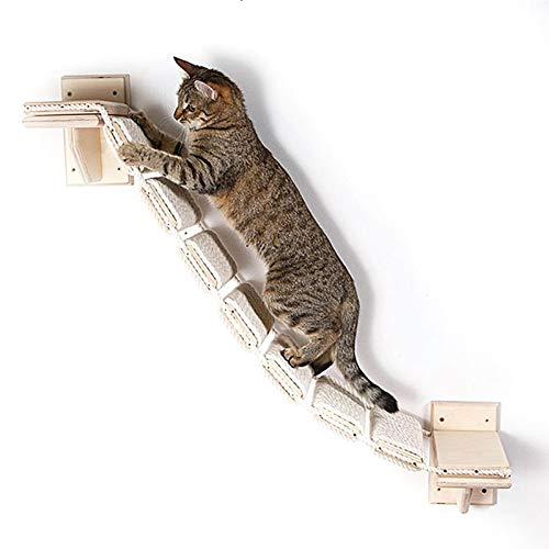 Schildeng Katzen Kletterwand Katzentreppe Kletterleiter Zur Wandbefestigung Für Katzen Wandmontage Kletterwand Kletteretage Kletterstufen Für Die Wand Im Innenbereich