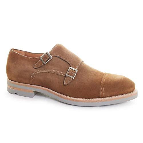 Magnanni Bernina Castoro Men's Monk Strap Shoes Size 8 US