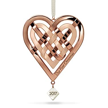 Our First Christmas Heart Ornament Milestones