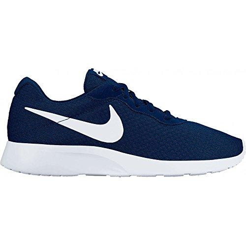 Nike Wmns Tanjun, Scarpe da Corsa Bambina, Blu Navy/Bianco, 35.5 EU