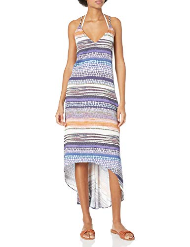 Kenneth Cole New York Women's High-Low Cross Back Dress Swimsuit Cover Up, Multi//Closer Together, XS