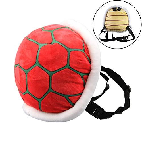 Schildkrötenpanzer aus Plüsch für Kinder Kostüm Turtle Schildkröte Plüsch Cartoon Cosplay Rucksack-Schultaschen Umhängetasche Bag