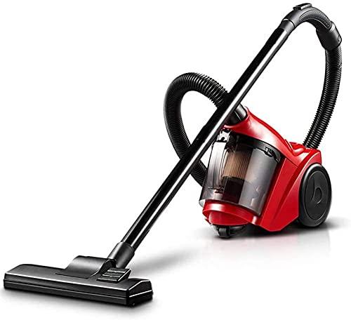 VULLDWS Limpiador de bidones sin Bolsa 1000 de Alta Potencia y silencioso filtrado Hepa y tecnología ciclónica-Rojo