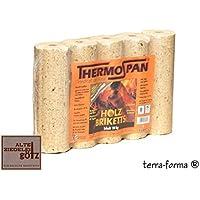 Thermo pan de madera briquetas 10 kg redondo con agujero