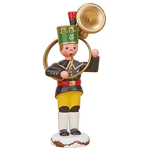 Hubrig Volkskunst Winterkinder Bergmann Sousaphon - 9 cm