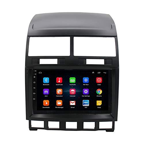 Amimilili Car Stereo Radio Sat NavAndroid 9 Multimedia Coche con Reproductor Multimedia Control del Volante Incluida Cámara Trasera para Volkswagen Touareg 2002-2010,8 Cores 4g+WiFi:2+32g