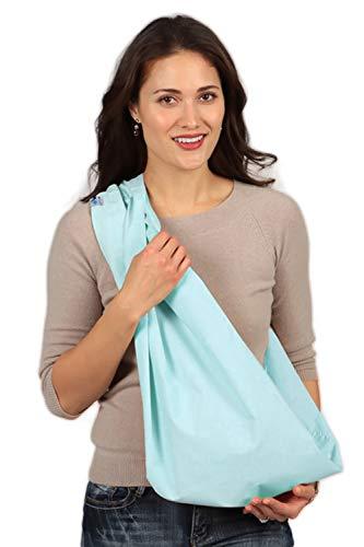 HugaMonkey Cotton Baby Sling Wrap Carrier for Newborn Babies, Infants and Toddlers Upto 3 Years - Aqua, Extra Large