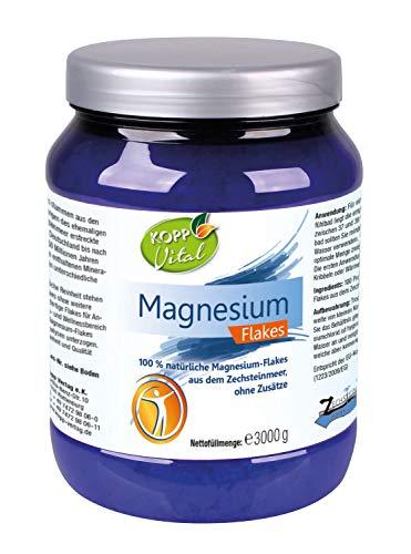 Kopp Vital Magnesium Flakes   3 kg   vegan   100 Prozent natürliche Magnesium-Flakes   aus dem Zechsteinmeer   ohne Zusätze