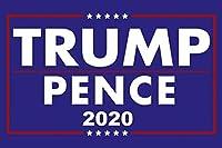 装飾ポスター、ドナルドトランプマイクペンス2020再選挙キャンペーンサイン大統領アートポスター、ヨーロッパとアメリカのスタイルのポスター、大きさ:30x42cm