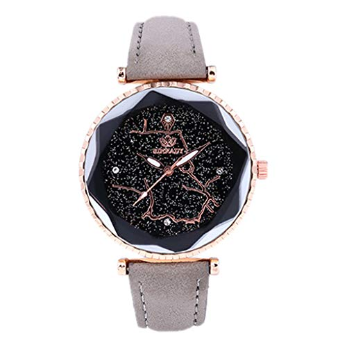 Luotuo Armbanduhr für Damen mit Analog Quarz, High-End Glasspiegel und Lederarmband - wasserdichte Damen Watch,schickem Design - Klassische, Elegante Uhr für Frauen