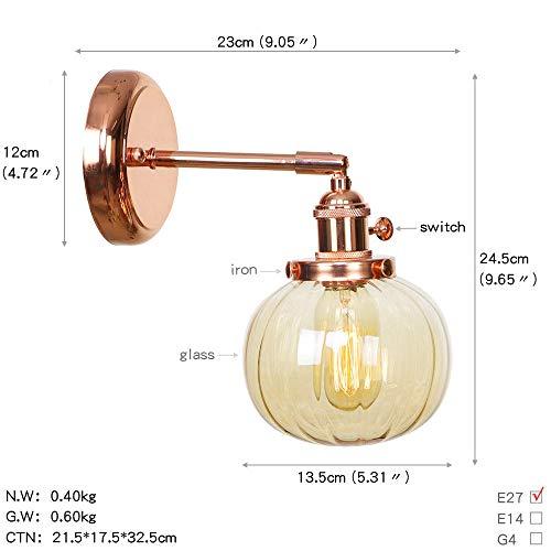 Wandlamp, Scandinavisch, Japans, voor slaapkamer, badkamer, spiegel, lamp, roségoud, ijzer, glazen bol van metaal, LED-wandlamp, tafellamp, kaarshouder