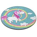 alfombra unicornio niña redonda