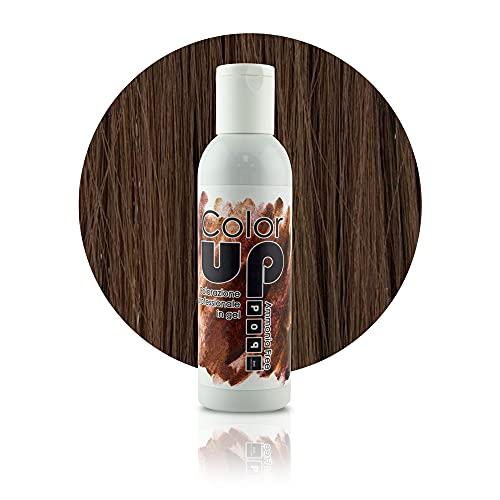 Pop Italy Color Up Tinta Professionale per Capelli in Gel Senza Ammoniaca - 150 ml (5 Cioccolato)