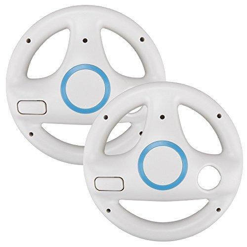 2x Volants de Course pour Nintendo Wii - Blanc
