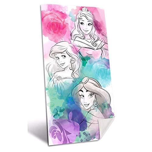 PRINCESAS algodón Colección Young Teenager Referencia KD Playa lavarse la Cara-Toallas Textiles del hogar Unisex Adulto, Multicolor (Multicolor), única