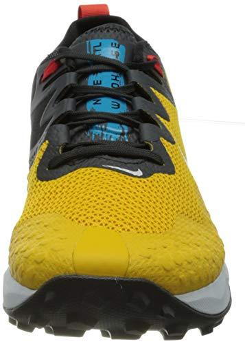 Nike Wildhorse 7, Zapatillas para Correr Hombre, Dk Sulfur Pure Platinum Off Noir Laser Blue Chile Red, 43 EU