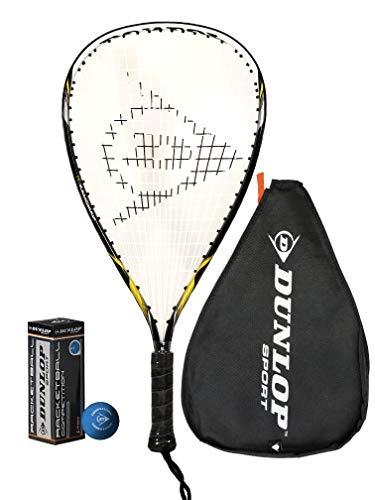 Dunlop Nanomax Ti Racketball Racket + 3 Dunlop Balls