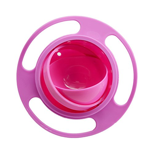 Ztl Gyro Bowl 360 Dgree Rotation Spill Resistant Gyroscopic Bowl with Lid