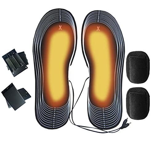 Plantillas calefactables con infrarrojos lejanos (FIR), funcionamiento con batería, plantillas calefactables, calentador de pies, suela térmica, lavable