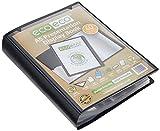 eco-eco A5 50% Reciclada 60 Bolsillo De Color Negro Presentación Libro de Exhibición, A5 60 Pocket/120 View 1 x Single (eco019)