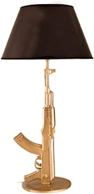 Moderna Lampada da Tavolo Lampada da Comodino Camera da Letto Desk Lamp Soggiorno Camera da Letto Resina Desk Lamp Lampada da Lettura (Color : Gold)