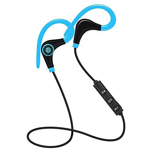 PANYUE Auriculares estéreo Bluetooth, cancelación de ruido, auriculares deportivos inalámbricos para entrenamiento, correr, gimnasio