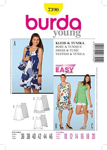 Burda Schnittmuster 7390 Kleid & Tunika Gr. 36-46