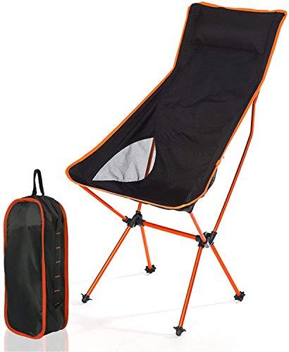 JUBC Ultraligero Silla de Camping Plegable al Aire Libre Picnic Hiking Travel Ocio Mochila Playa Plegable Luna Silla Pesca Pesca Silla portátil