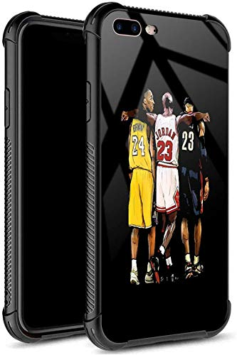 iPhone 8 Case,USA Basketball Star033 Pattern Tempered Glass iPhone 7 Cases for Girls Men Boy [Anti-Scratch] Fashion Pattern Design Cover Case for iPhone 7/8(4.7inch)