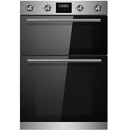 Cookology CDO900SS 60cm Stainless Steel Built-in Electric Double Oven &...