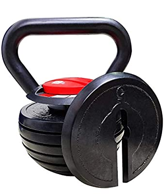 Bibowa Adjustable Kettlebell Weights Sets Cast Iron 10 15 20 25 30 35 40 lb for Exercises,Weightlifting,Conditioning,Strength and Core Training by Bibowa