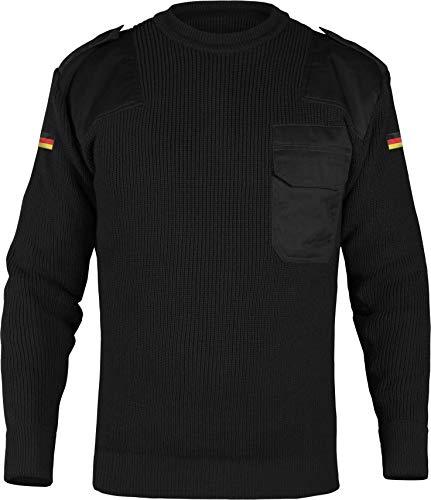 normani Herren Bundeswehr Pullover Original nach TL Winterpulloverullover mit Brusttasche und Deutschlandfahne Farbe Schwarz Größe 3XL/58