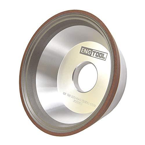 MaxTool Diamond 11V9 Flaring Cup Grinding/Abrasive Wheels OD 5' Bore 1.25' T45mm G150 Resin Bond Wet NDR11V9D5T45X3G15P