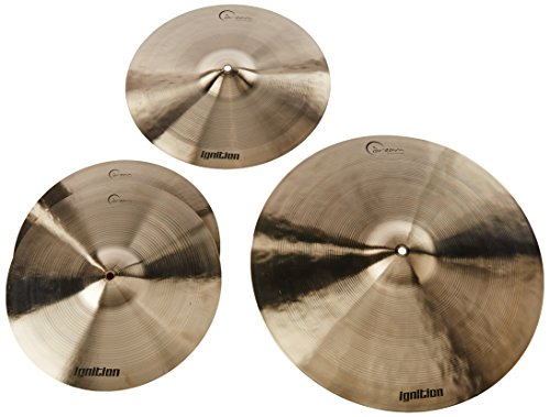 "Dream Cymbals IGNCP3 Ignition Cymbal Pack w/ 14"" Hi Hats 16"" Crash 20"" Ride and Gig Bag"