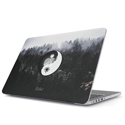 Glitbit Funda rígida compatible con MacBook Pro de 13 pulgadas modelo A2289/A2251 con o sin barra táctil Yin Yang Mandala Naturaleza Paisaje Montañas Bosque Tumblr