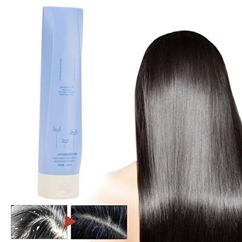 Champú para el cabello con fragancia, champú esponjoso anticaspa y antiprurito de aminoácidos florales vegetales de 260 ml para el cuidado del cabello graso
