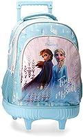 Disney Sac à dos scolaire avec chariot True to Myself La Reine Des Neiges 2 Bleu 32 x 43 x 21