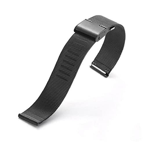 Yililay Moda Mujeres Relojes Simple Strap Steería de Acero Ultra Delgada Cinturón de Reloj Correa de Reloj Malla de Reloj Malla A Prueba de Agua Lady Wristwatch Accesorio Black 1Set