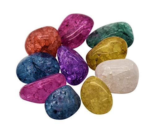 AMAHOFF Magic Stones (10 Stück) - gefrostete Bergkristalle - Intensive Farbe - einzigartige Strukturen - geeignet für Kinder