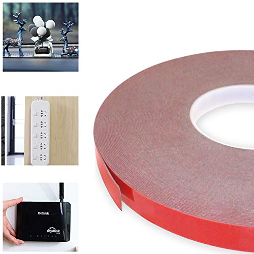 Double Sided Tape - Heavy Duty Mounting Adhesive Tape,VHB Waterproof Foam Tape for LED Strip Lights,Home Decoration, Office Decorations (0.59In x 108 Ft, Black)