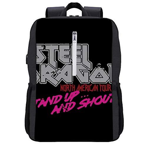 Steel Dragon North American Tour Rock Star Rucksack Daypack Bookbag Laptop Schultasche mit USB-Ladeanschluss
