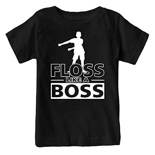 Kids Floss Like a Boss Flossin Dance Youth T Shirt (Black, Youth M)