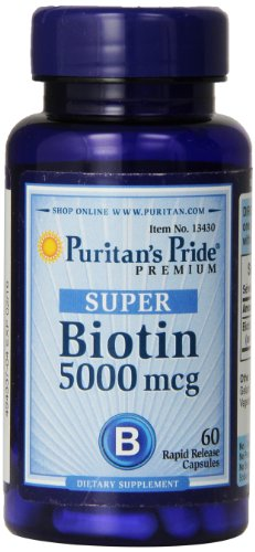 Biotina 5000mcg Puritans Pride 60Caps