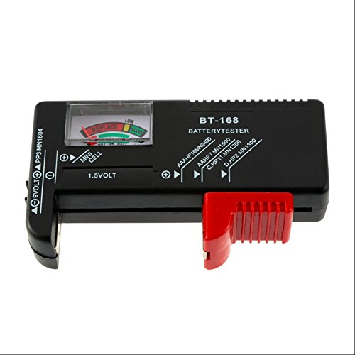 Delleu 1 Pc Aa C D Battery Tester For 9V 1.5V And Button Cell Aaa Aa C D...