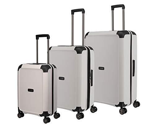 """TITAN """"COMPAX""""-Trolleys von TITAN®: stabile Hartschalen-Koffer in futuristischer Optik in 3 Farben Koffer-Set, 77 cm, 222 l, White"""