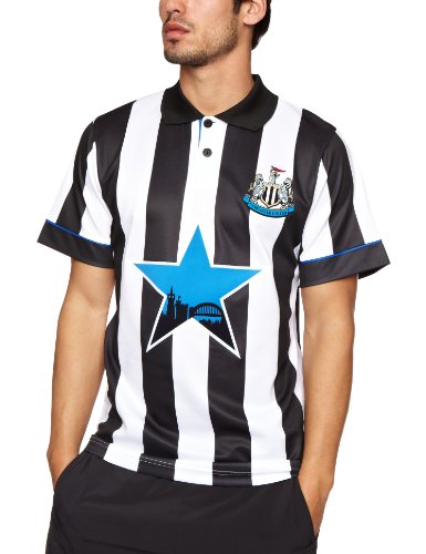 Score Draw Newcastle United 1996 Home Retro Mens Football Shirt-S