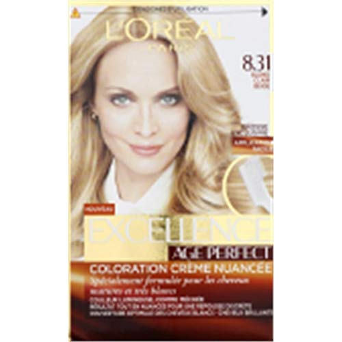 L'ORÉAL - EXCELLENCE - Age Perfect Coloration N°8.31 Blond Clair Beige L'Unité - Lot De 2 - Vendu Par Lot