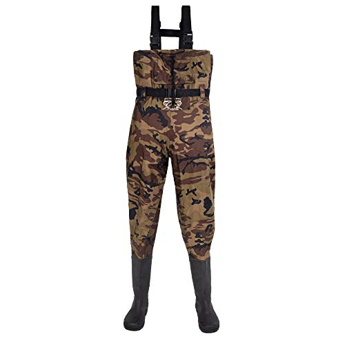 Fly Fishing Hero Chest Waders for Men with Boots Hunting Waders Fishing Boots Neoprene Waders for Women Free Hangers Included (Camo 12)