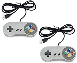QUMOX 2x Nintendo game PC controller SFC GamePad for Windows PC USB Super famicom